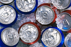Soft Drinks in Ice